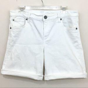 Kut from the Kloth Bermuda jean shorts white sz 10